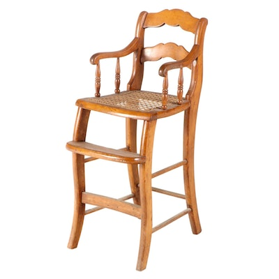 Early Victorian Walnut Child's High Chair, Mid-19th Century