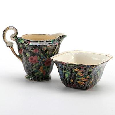 """Royal Winton """"Victorian"""" Bone China Creamer and Mayonnaise Bowl"""