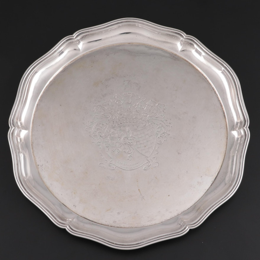M. H. Wilkens & Söhne German 800 Silver Tray, Late 19th Century