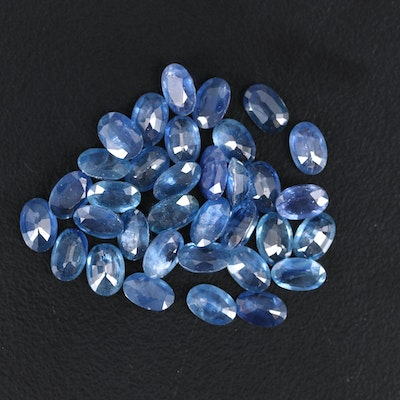 Loose 18.18 CTW Oval Faceted Sapphires