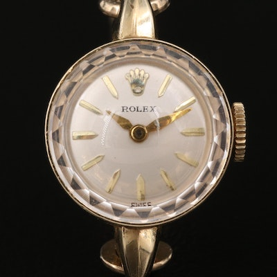 Vintage 14K Rolex Stem Wind Wristwatch