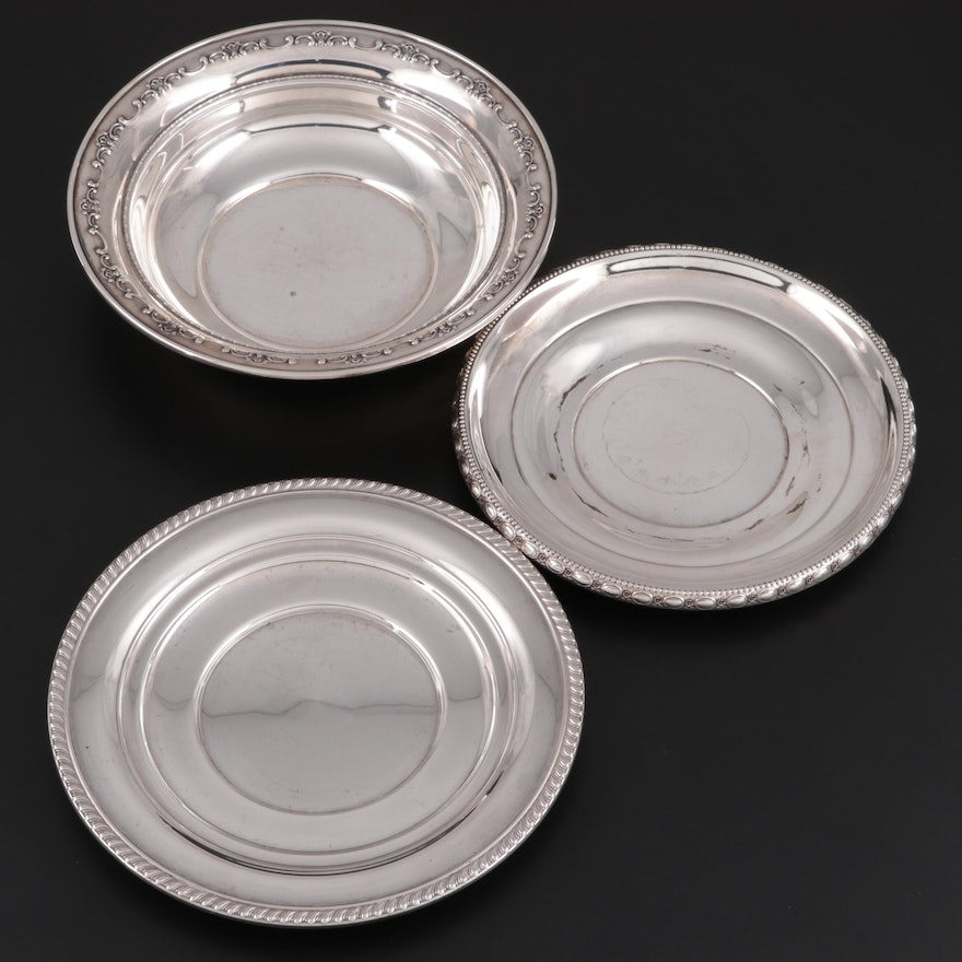 "Gorham ""Strasbourg"" Sterling Silver Vegetable Bowl with Other Sterling Plates"