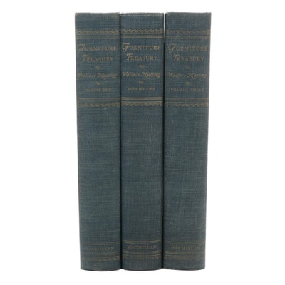 """""""""""Furniture Treasury"""" Three-Volume Set by Wallace Nutting, 1954"""