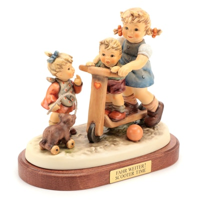 "Goebel Hummel Club Exclusive Edition ""Scooter Time"" Porcelain Figurine"