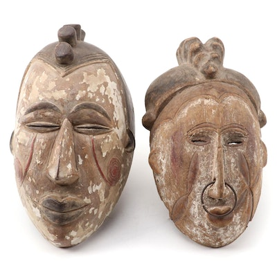 Igbo Inspired Wood Masks, Nigeria