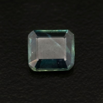 Loose 1.23 CT Cut Cornered Square Faceted Sapphire