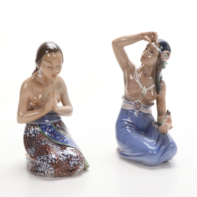 Dahl-Jensen Female Polynesian Figurines