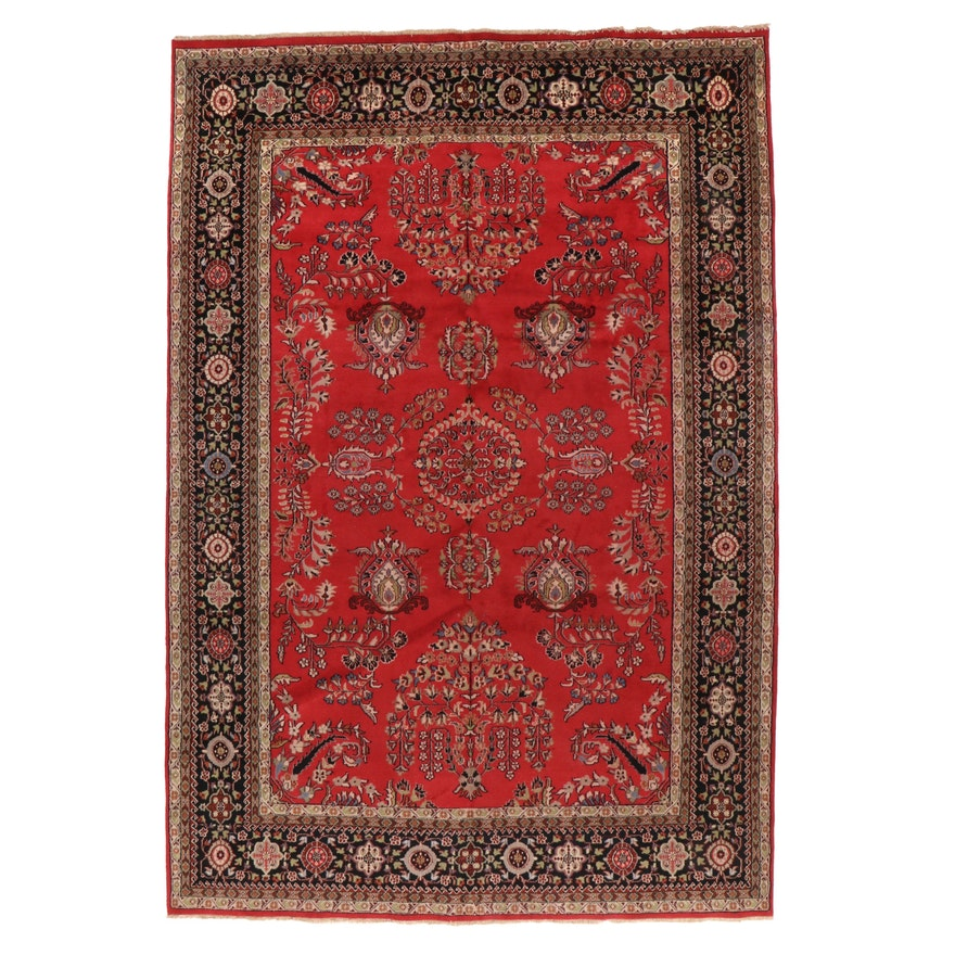 9'5 x 13'10 Hand-Knotted Indo-Persian Tabriz Room Sized Rug, 2000s