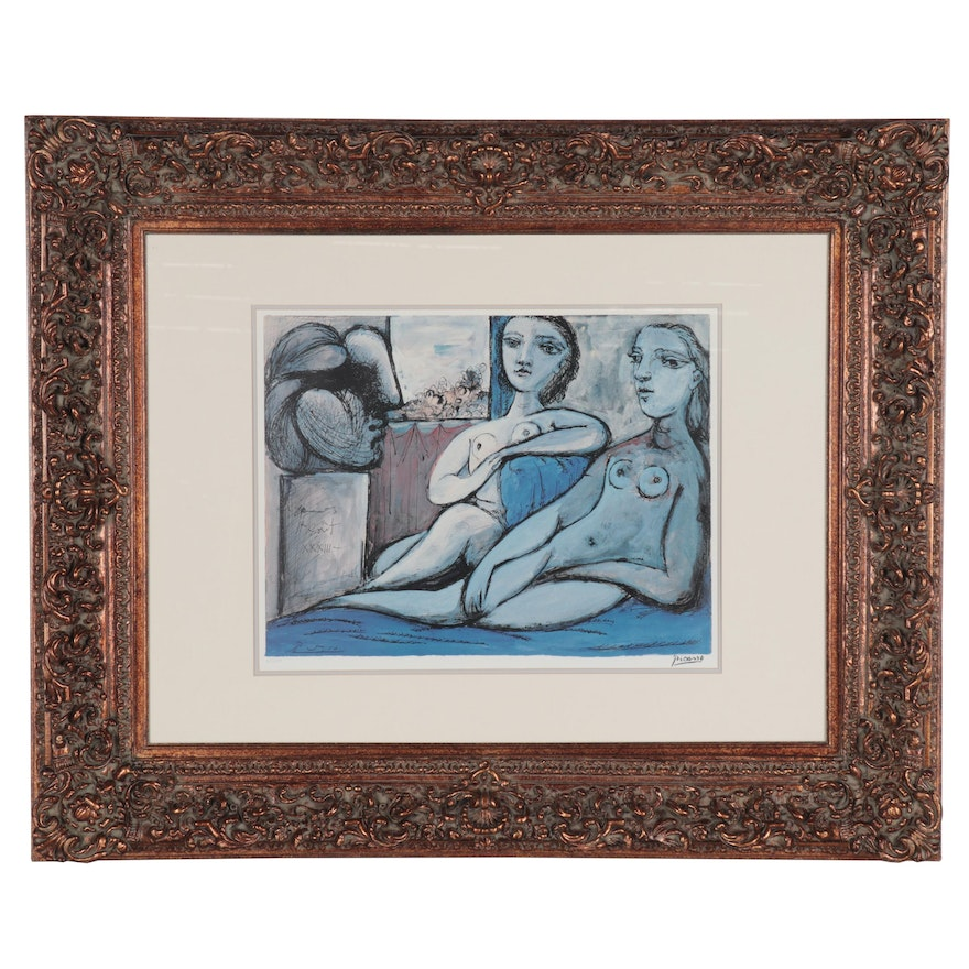 """Offset Lithograph after Pablo Picasso """"Nudes and Bust,"""" Late 20th Century"""