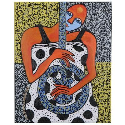 "Lanre Buraimoh Acrylic Painting ""More Than a Hobby"""