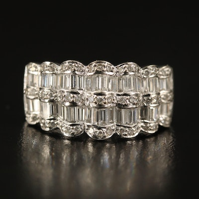 18K 1.50 CTW Diamond Scallop Ring