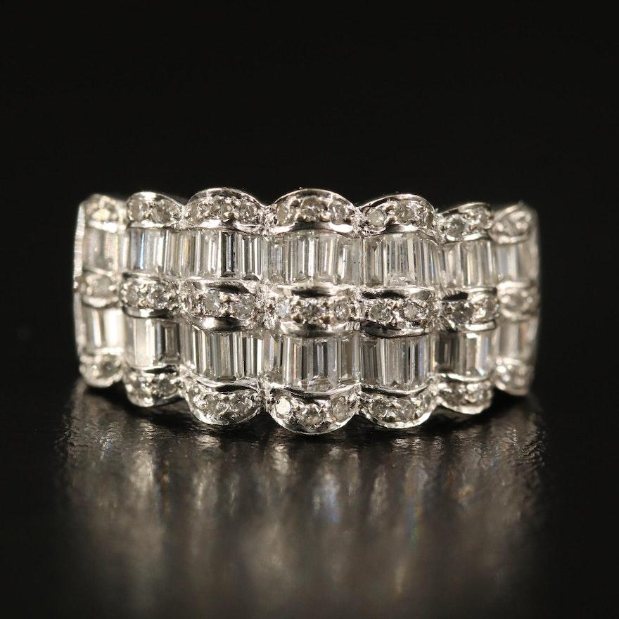 18K 1.50 CTW Diamond Scallop Ring