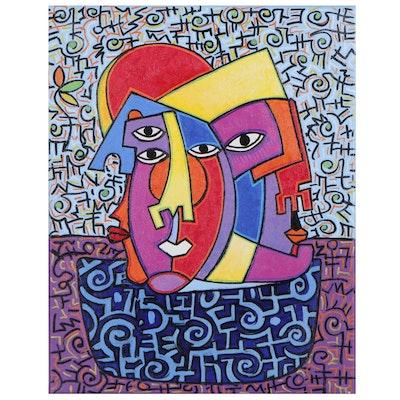 "Lanre Buraimoh Acrylic Painting ""Honoring Our Heroes"""
