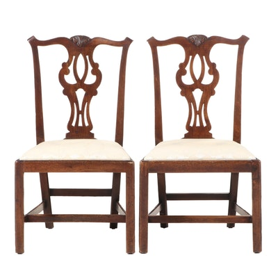 Pair of Chippendale Style Mahogany Side Chairs, Late 19th or Early 20th Century