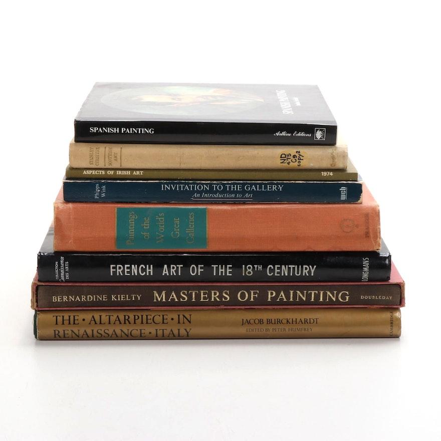 "European Art Books Including ""Masters of Painting"" by Bernardine Kielty"