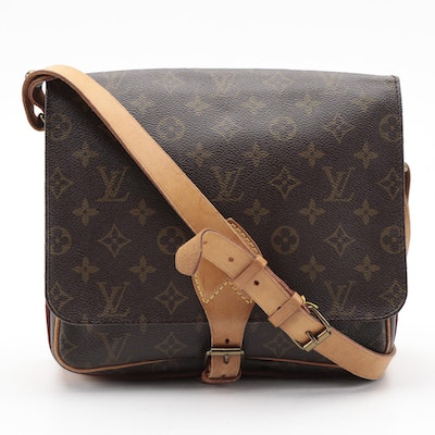 Louis Vuitton Cartouchiere GM in Monogram Canvas and Vachetta Leather