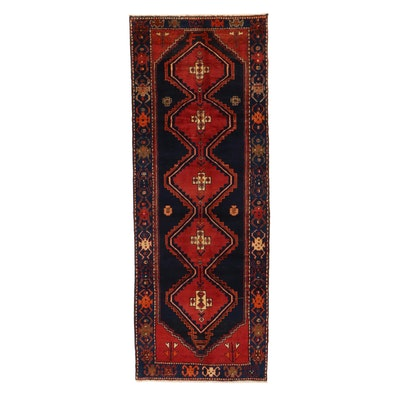 3'6 x 9'5 Hand-Knotted Northwest Persian Long Rug, 1960s