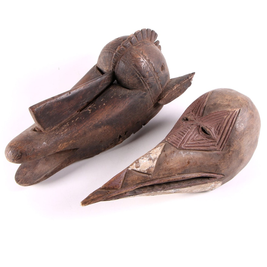 Bamana Style and Baga Style Animal Masks, West Africa