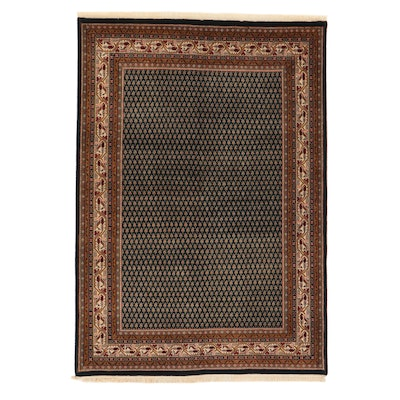 5'8 x 8'3 Hand-Knotted Indo-Persian Mir Sarouk Rug, 2000s