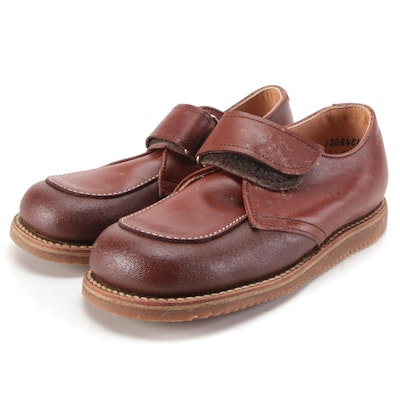 Children's Ruggies by Foot Traits Brown Leather Dress Shoes with Box