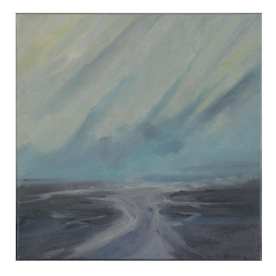 "Rebecca Manns Oil Painting ""Tidal Crosswinds,"" 2021"