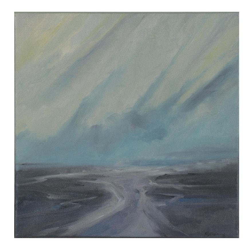 "Rebecca Manns Oil Painting ""Tidal Crosswinds,"" 2021"