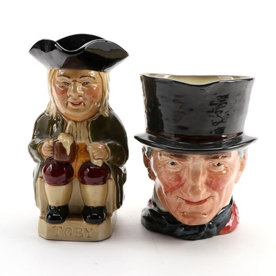 Wood & Sons and Royal Doulton Ceramic Toby Jugs, Mid to Late 20th C.