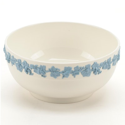 Wedgwood Lavender on Cream Ceramic Salad Serving Bowl, 1930-1983