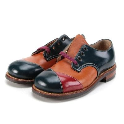 Children's Julius Altschul Tricolor Leather Saddle Shoes