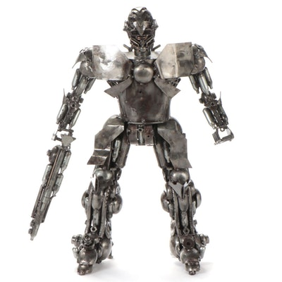 """Mr. Santo Welded Iron Sculpture """"Bumblebee"""""""
