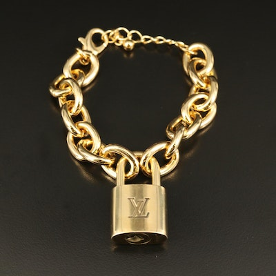 Louis Vuitton Lock on Cable Chain Bracelet