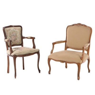 Louis XV Style Fauteil Arm Chairs