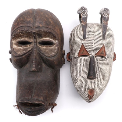 Central African Inspired Wood Masks