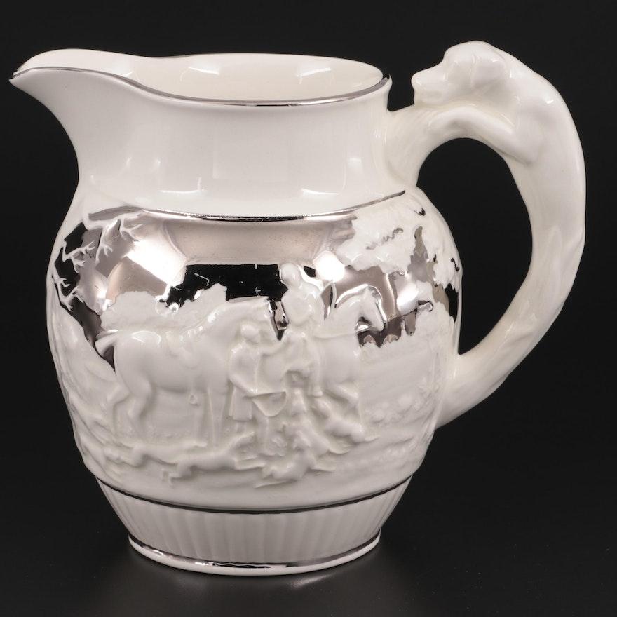 "Wedgwood & Barlaston of Etruria ""D'Ye Ken John Peel"" Ceramic Pitcher"