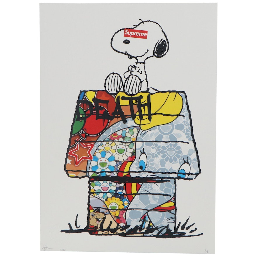 Death NYC Offset Lithograph of Snoopy, 2020