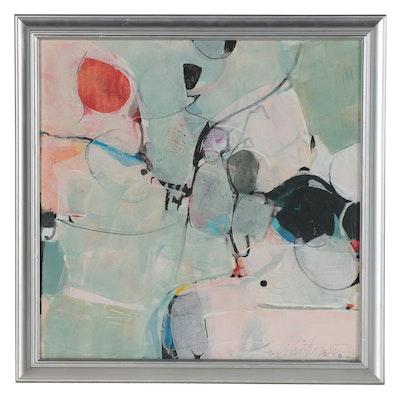 "Mark Whitmarsh Abstract Acrylic Painting ""Cloud Nine,"" 2021"