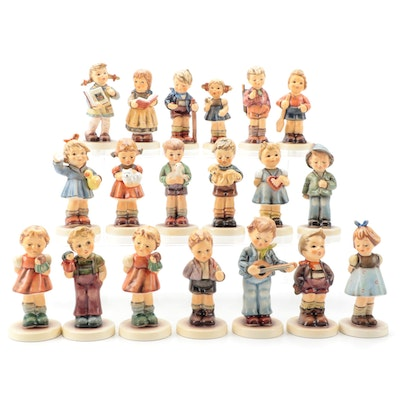 "Goebel Hummel Porcelain Figurines Including ""A Boy's Best Friend"" and ""Carefree"""