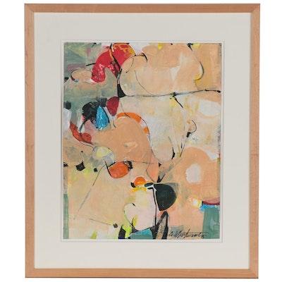 "Mark Whitmarsh Acrylic Painting ""Butterscotch,"" 2021"
