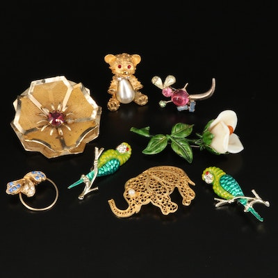 Flora and Fauna Brooch Selection