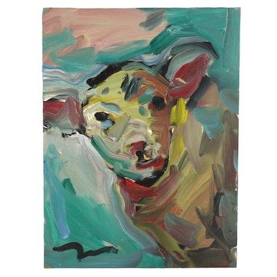 "Jose Trujillo Oil Painting ""The Lamb,"" 2018"