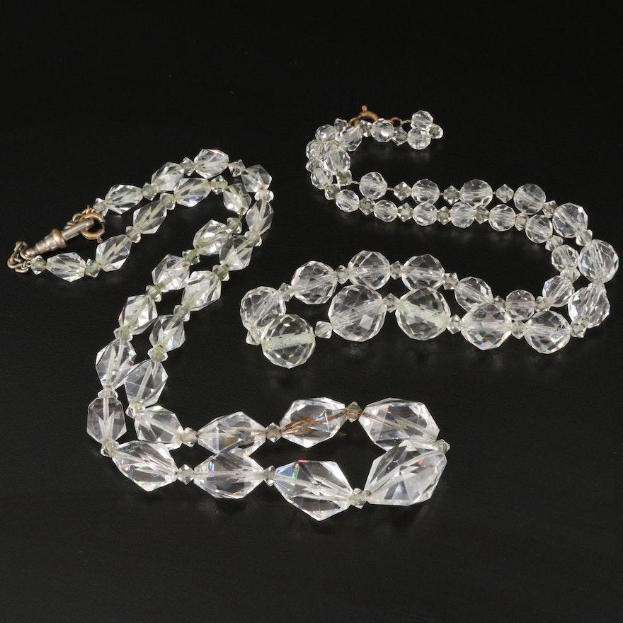 Vintage Graduated Glass Bead Necklaces