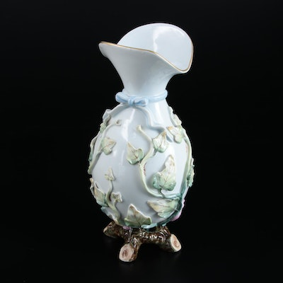 Vista Alegre Portugal Porcelain Vase, Late 20th Century