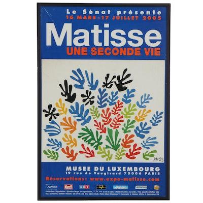 "Musée du Luxembourg ""Matisse Une Seconde Vie"" Exhibition Poster, 2005"