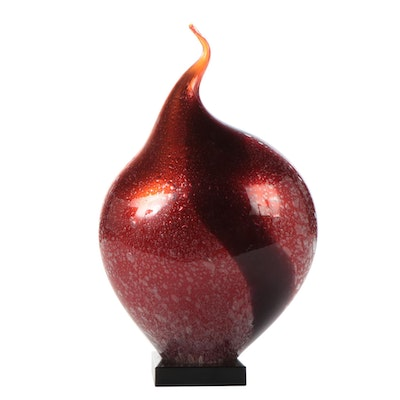 Viz Glass Studios Blown Glass Sculpture, 21st Century