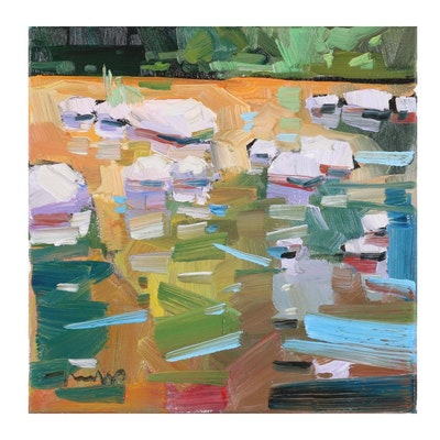 "Jose Trujillo Oil Painting ""Murky River,"" 2021"