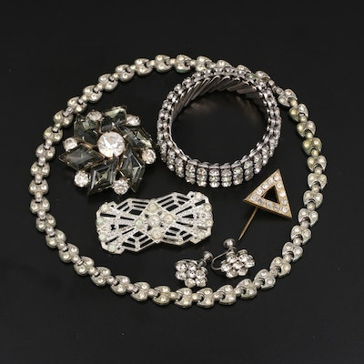 Vintage Rhinestone Jewelry Selection