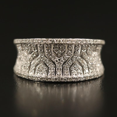 EFFY 14K Diamond Concave Band