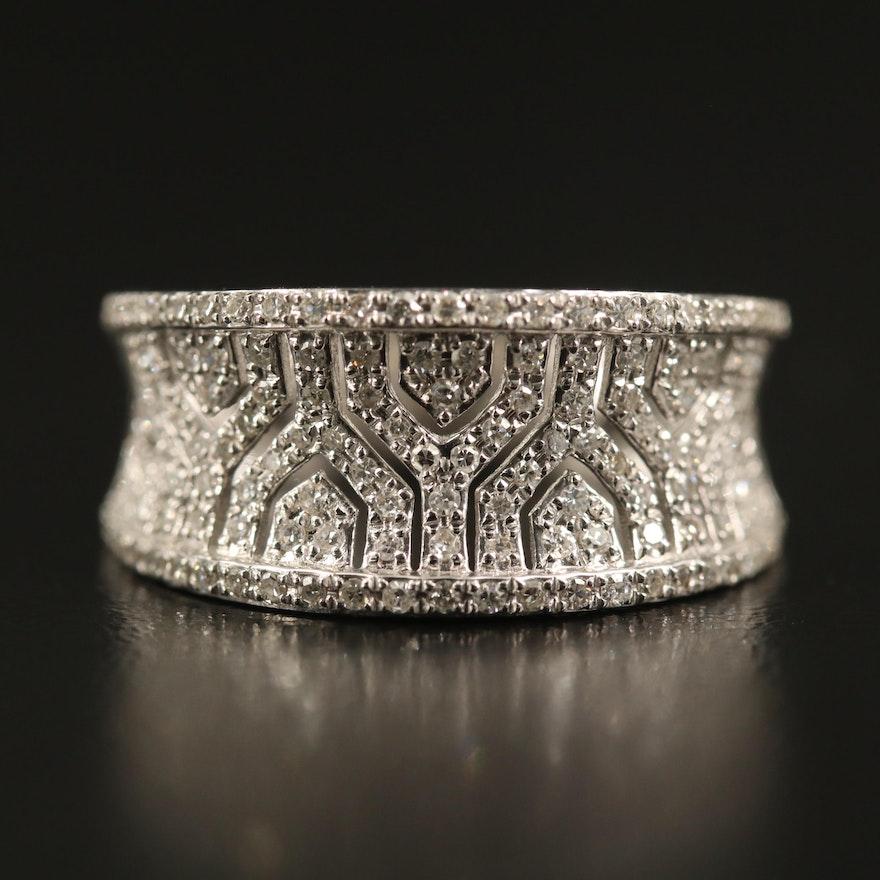 EFFY 14K Diamond Concave Band