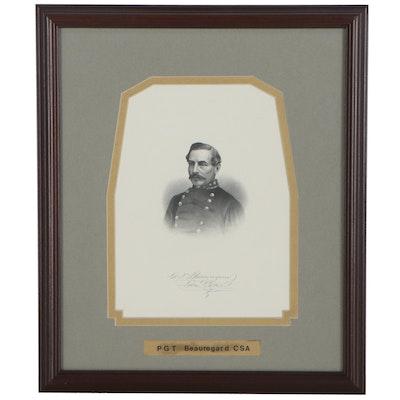 "Portrait Halftone ""P.G.T. Beauregard, CSA"""
