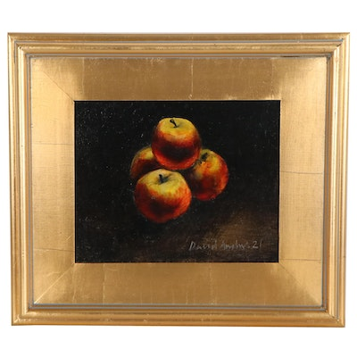 David Andrews Still Life Oil Painting of Apples, 2021